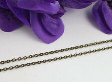 """12PCS Antiqued Bronze 3.2x2.2mm link cable chain necklaces16""""18"""" 20"""" 22"""" and 24"""""""