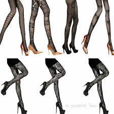 Patterned Tights Floral Striped Black Hosiery Lace Pantyhose Pattern Ladies Sexy