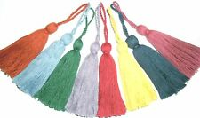 COTTON KEY TASSELS- ASSORTED COLOURS X4, CUSHION/BLINDS/CURTAINS/FABRIC TRIM ETC