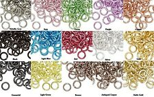 100 Round 5mm Aluminum Jumprings  *20 gauge   *Many Colors To Choose !
