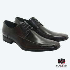 New Maketh Mens Formal Dress Shoe Pull On Laces Leather Lined