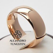Alejandro Tungsten Carbide Ring 8MM Rose Gold Classic Stunning Band TG064