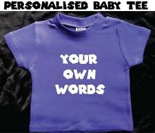 Custom Printed Baby T-shirt! Printing on FRONT and BACK. Personalised Gift!!