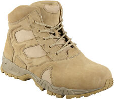 """Desert Tan Military Forced Entry Deployment Combat Tactical 6"""" Boots"""