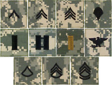 ACU Digital Camouflage Military Rank Rip-Stop Insignia Patch USA Made