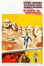"""""""NORTH BY NORTHWEST"""" ..Cary Grant Hitchcocks Classic Movie Poster A1A2A3A4Sizes"""