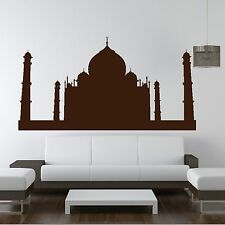 Taj Mahal Wow Skyline Indie World Landmark Wall Sticker Decor Design Graphic R40