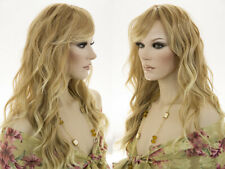 Long Lace Front Heat Resistant Straight Wavy Skin Top Wigs Long Side Swept Bangs