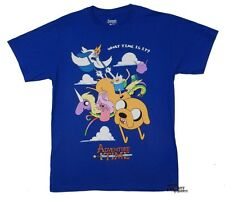 Adventure Time With Finn And Jake Group In Clouds Licensed Adult Shirt S-XL