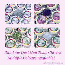 Rainbow Dust - Non Toxic, Edible Glitters - All Colours - Free P&P