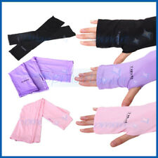 """COLOR"" UV SUN PROTECT ARM SLEEVE COOLER WARMER COVER GLOVE GOLF DRIVING SPORT"