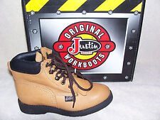 Justin Original Workboots Youth 782Y Aged Bark Lace Up Boots