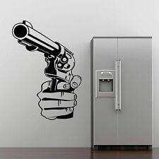 Gun Shooting Wall Sticker Decor Mural Design Stencil Decal Vinyl Graphic Men SP9