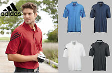 NEW Adidas Golf Men's ClimaCool® Mesh Back 3 stipe Polo S-3XL A133