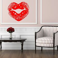 Heart Shaped Kiss Lips Wall Sticker Design Decal Vinyl Transfer Girls Graphic W1