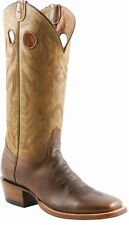 Lucchese M3098 Mens Natural Oiled Tan Leather Western Cowboy Boots