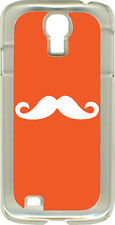 Orange or Navy Blue Mustaches on Samsung Galaxy S4 Hard or Rubber Case Cover