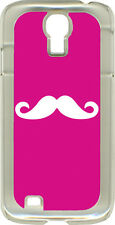 Fuchsia Pink and Royal Blue Mustaches on Samsung Galaxy S4 Hard or Rubber Case
