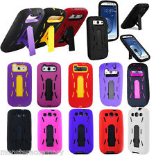 Kickstand Hard Cover Silicone Case Accessory For Samsung Galaxy S3 i9300