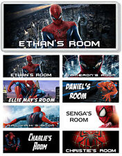 Spiderman Personalised Kids' Bedroom Door Plaque / Sign *ANY NAME / MESSAGE*