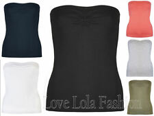 Womens Boob Tubes Ladies Tops Sleeveless Bandeau Inner Support Brody & Co Summer