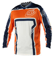 NEW 2014 TROY LEE DESIGNS GP AIR FACTORY MX DIRTBIKE JERSEY ORANGE/BLUE ALL SIZE