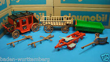 Playmobil western / farm / wagon / horse harness / tractor trailer / chariot 173
