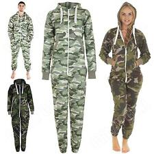 Adult Ladies Womens Mens Onesie Camouflage Jumpsuit All In One Plus Size S M L 8