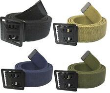 Military Cotton Web Belt With Open Face Buckle