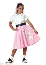 Brand New Grease Child 50's Pink Poodle Skirt Halloween Costume