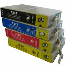4 Generic Replacements for Epson T1285 Printer Ink Cartridges. UK VAT Invoice.