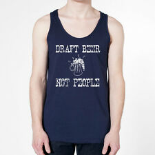 DRAFT BEER NOT PEOPLE funny drinking stop war new shirt NAVY MENS TANK TOP 354