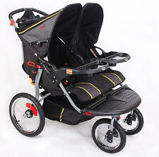 BNIB Baby Trend Double Baby Jogger Twin Duo Stroller Pram Pushchair Buggy Chair