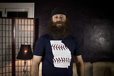 Georgia baseball t shirt In red white and blue Atlanta Braves colors