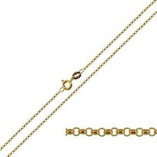 "9CT SOLID YELLOW GOLD 14 16 18 20 22 24"" INCH FINE BELCHER LINK CHAIN NECKLACE"