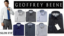Mens Shirt GEOFFREY BEENE Designer SLIM FIT Wrinkle Free FANCY RRP $50