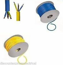 Arctic Cable Electrical 3 Core Yellow Blue 1.5mm 2.5mm 4mm 6mm Flex 3183A 100m