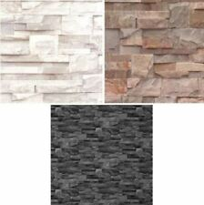 NEW LUXURY MURIVA SLATE STONE BRICK WALL EFFECT TEXTURED  VINYLWALLPAPER ROLL