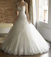 2013 Ivory/white A-line wedding Bridal Gowns dress size 6 8 10 12 14 16 18