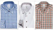 Mens Shirt OLYMP Designer PURE COTTON Easycare Long Sleeve BUTTON-DOWN