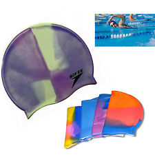 Adult Silicone swimming cap waterproof unisex Stretchable Moulded Caps for Pool