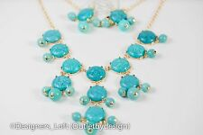 Bubble Bib Statement Fashion Chain Necklace Free Earrings Several Colors