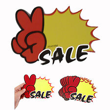 10 x Shop Sale Sign Hanging Blank Pop Price Tag Signboards for Retail Stores