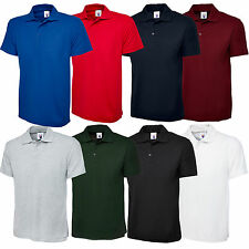New Mens & Womens Olympic Plain Polo Shirt Short Sleeve - Casual Sport Leisure