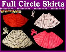 Childs 18 inch Full Circle Rock N Roll Skirt and Scarf Set Grease Outfit