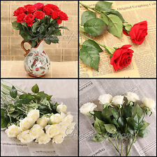 10-20pcs For wedding Bouquet Decoration Head Real Touch Latex Rose Flowers