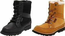 TIMBERLAND LAMPREY YOUTH KID BOOTS BIG LITTLE WHEAT or BLACK LEATHER SHEARLING