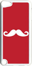 Plain Red and White Mustache on iPod Touch 5th Gen 5G TPU Case Cover