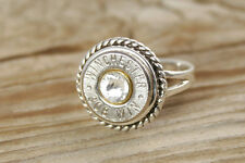 Sterling Silver Rope Bullet Ring 308 30-06 270 45 Auto 38 Special 357 Swarovski