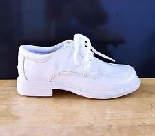 White Patent Leather Ring Bearer Tuxedo Dress Boys Shoes Youth Size 13, 1, 3